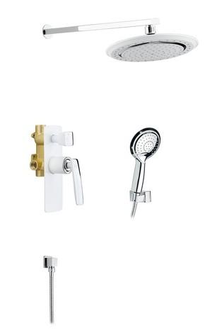Душевая система встроенная Timo Helmi SX-4069/00-16SM-2100 хром-белый