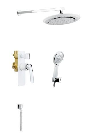 Душевая система встроенная Timo Helmi SX-4069/00-16SM-412 хром-белый