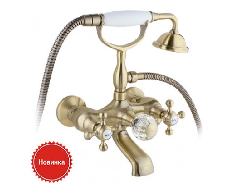 Смеситель для ванны с душем Timo Nelson 1914/02Y-CR антик
