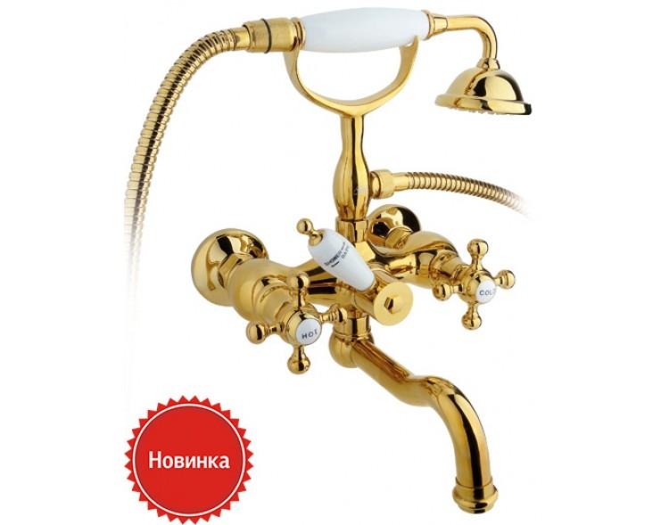 Смеситель для ванны с душем Timo Nelson 1944YCR gold