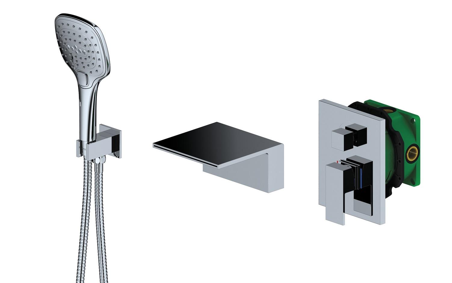 Смеситель для ванны с душем встроенный Timo Selene 2064/00YSM хром
