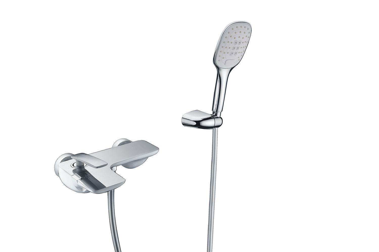 Смеситель для ванны с душем Timo Helmi 4014/00-16Y хром-белый