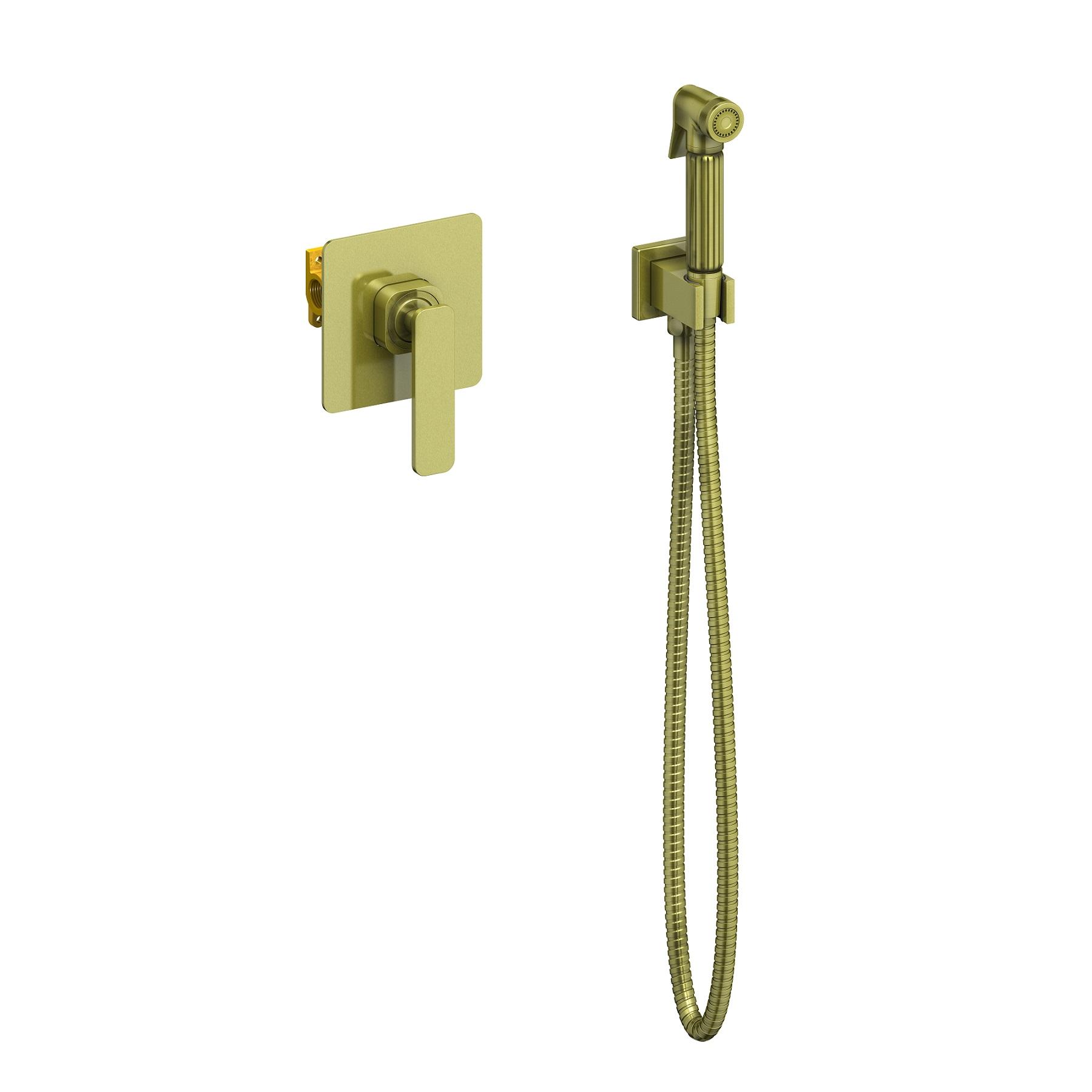 Смеситель встроенный с гигиеническим душем Timo Torne 4389/02SM антик
