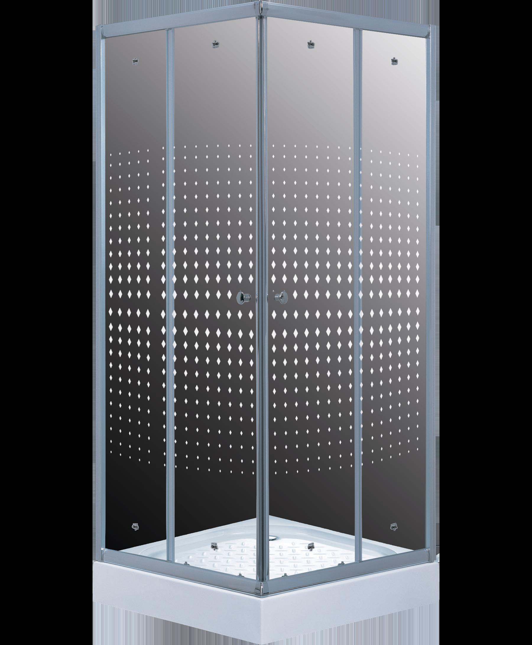 Душевой уголок TL-8002 Romb Glass
