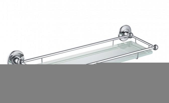 Полка в ванну стеклянная Timo Nelson 150072/00 хром