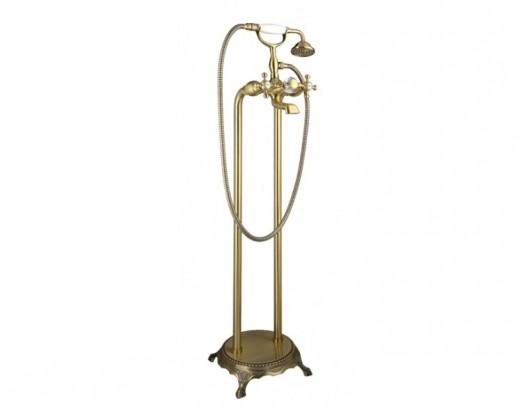 Смеситель напольный для ванны с душем Timo Nelson 1900/02Y-CR антик