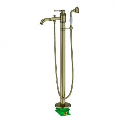Смеситель напольный для ванны с душем Timo Arisa 5300/02Y-CR антик