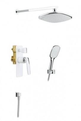 Душевая система встроенная Timo Helmi SX-4069/00-16SM хром-белый